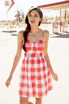 Beautiful dress Gingham style.