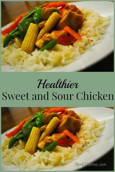 Healthier Sweet and Sour Chicken, an easy to make, wholesome version of this timeless classic.