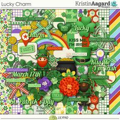 Lucky Charm - Digital Scrapbooking Kit 	by Kristin Aagard Designs ...