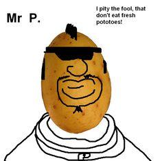 hot potato, cabin fever, friend, potato head