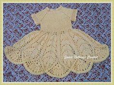 Sweet Nothings Crochet Beautiful Lotus Baby Dress