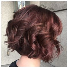 Burgundy red redken hair by @amy_ziegler