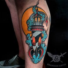 Hi Redditers, my name is Brandon David. I work at Ink and Dagger tattoo in Atlanta. This is my first ever Reddit post. Hopefully I can use this site more to showcase my work. Thanks for looking! This tattoo is a Lighthouse space rocket! Space Rocket, Dagger Tattoo, Tattoo Apprentice, American Traditional, Traditional Tattoo, Old School, Cool Tattoos, Tatting, Atlanta