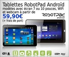 Tablette RobotPad V2 Android 10.1 pouces à moins de 169 euros frais inclus : prolongation de l'offre sur les tablette 10.1 la tablette 7 pouces étant épuisée.