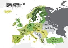 Europe According to Sweden - Atlas of Prejudice