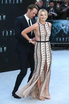 Alexander Skarsgard and Margot Robbie Tarzan Premiere