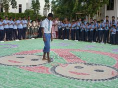LARGEST FOOTPRINT PAINTING BY AN INDIVIDUAL Secondary School, Beach Mat, Outdoor Blanket, Kids Rugs, Footprints, Books, Painting, India, Painting Art