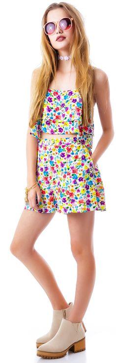 MinkPink Wild Flower Patch Shorts | Dolls Kill