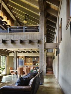 Interior from Black Dog Lodge by Erich Remash Architect