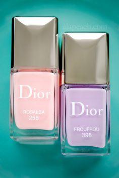 Dior in Bloom Rosalba 258 Frou Frou 398 Vernis Spring 2013