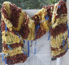 Hand Knit Bulky Scarf named Bird Nest in Yellow and by bpenatzer, $98.00