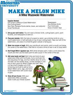 Monsters University Melon Mike Watermelon Craft