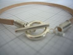 Leather bracelet with sterling silver fastening by jonesyinc, £10.00