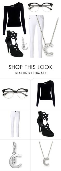 """""""Letter C"""" by zebratx88 ❤ liked on Polyvore featuring A.L.C., Diesel Black Gold, C Label, Thomas Sabo and Roberto Coin"""