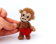Tiny crochet monkey!