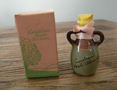 NOS Vintage Hill's Canadian Apple Blossom Perfume in Pottery Jug Bottle with Box