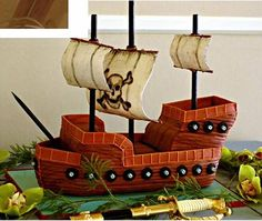 Arrr, matey: It's a pirate ship cake!