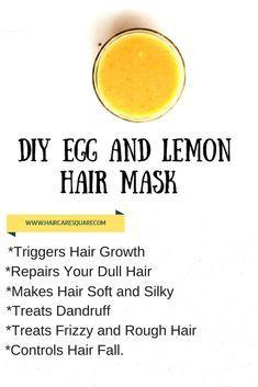 Diy Egg White And Lemon Hair Mask For Hair Growth !!!