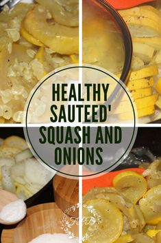 Healthy Sauteed Squash and Onions is a quick and easy side dish that only takes a few ingredients and just a few short minutes! Onion Recipes, Soup Recipes, Healthy Recipes, Side Dishes Easy, Side Dish Recipes, Squash And Onion Recipe, Sauteed Squash, My Favorite Food, Favorite Recipes