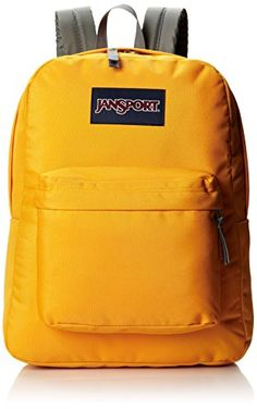 JanSport Superbreak Backpack  Beez Yellow  167H x 13W x 85D >>> This is an Amazon Affiliate link. See this great product.