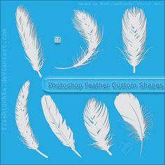 Feather Custom Shapes by ~flashtuchka on deviantART