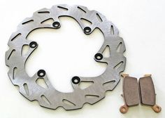 1998-2001 Yamaha YZ125 YZ250 Rear Riptide Brake Rotor & Sev Duty Rear Brake Pads