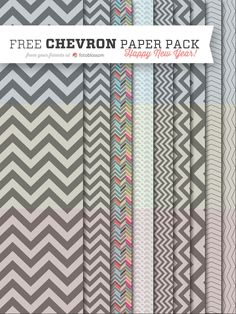 Free Chevron Paper Pack from fotoblossom.  Happy New Year!