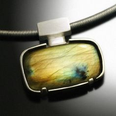 Sale 25 Off  Labradorite Pendant in Sterling Silver  by Revonav, $135.00