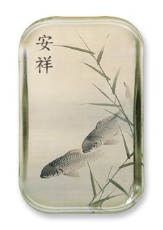 """Peaceful Koi - Rectangle Glass Paperweight (2-1/2"""" x 4"""" x 1"""") - http://www.yourfishguide.com/peaceful-koi-rectangle-glass-paperweight-2-12-x-4-x-1/?utm_source=PN&utm_medium=http%3A%2F%2Fwww.pinterest.com%2Fpin%2F368450813235896433&utm_campaign=SNAP%2Bfrom%2BKoi+Fish+Facts"""