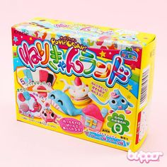 NEW! Popin Cookin sets are a fun and interesting way to make your own sweets. This is a Do-It-Yourself set for shaping different figures and animals from delicious edible candy material. The package includes shaping ideas and color examples!