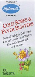 Relief of symptoms of cold sores, cracked lips and fever blisters due to common cold or exposure. Also useful in canker sores and mouth ulcers due to acid foods.