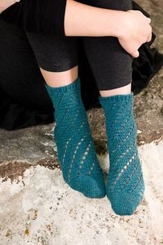 Fun and easy crochet lace socks. I know several people who have made these crochet socks and love them.