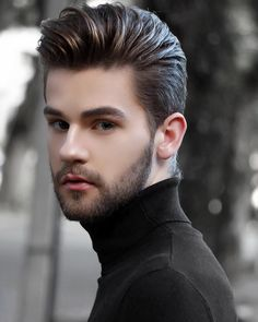 Teen beard and hair style Trending Hairstyles For Men, Mens Hairstyles With Beard, Undercut Hairstyles, Haircuts For Men, Groom Hair Styles, Hair And Beard Styles, Short Hair Styles, Mr Beard, Beard Model