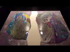 Acrylic Paint Dirty Pour - Upside down Bowl Flip 1 - YouTube