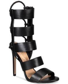 ac41698e9e36 Aldo Hawaii Caged Back Lace Sandals - Black 7.5M Aldo Sandals