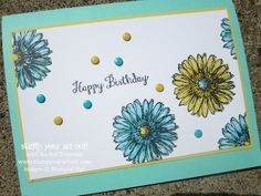 Bloom With Hope Birthday Card colored with Blendabilities Markers - #stampyourartout #stampinup - Stampin' Up!® - Stamp Your Art Out! www.stampyourartout.com