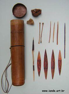 aljava para guardar pontas de flechas - indios yanomami