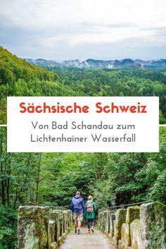 Die Sächsische Schweiz bei Dresden bietet viele Möglichkeiten zum Wandern an. Von Bad Schandau aus sind wir mit der Kirnitzschtalbahn zum Lichtenhainer Wasserfall gefahren und von dort aus zum Kuhstall gewandert. #Dresden #Wandern Hiking Germany, Dresden, Swiss Alps, World Traveler, Travel Inspiration, Places To Go, Wanderlust, Camping, Mountains