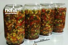 Soslu Otlu Acılı Kıyma Biber Turşusu Tarifi nasıl yapılır? 146 kişinin defterindeki bu tarifin resimli anlatımı ve deneyenlerin fotoğrafları burada. Yazar: Beceriklihatun Pickles, Cucumber, Salsa, Beans, Jar, Vegetables, Ethnic Recipes, Food, Salsa Music