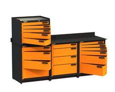 heavy duty steel modular workbench.  1/4 inch steel top. Workbench For Sale, Steel Workbench, Workbench Top, Truck Tools, Truck Tool Box, Tool Storage, Locker Storage, Storage Ideas, Cool Vans