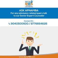For any admission related queries talk to our Senior Expert Counselor.