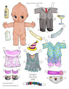 Kewpie's New Year 2018 Miss Missy Paper Dolls: Kewpie's New Year 2018 Paper Dolls Clothing, Barbie Paper Dolls, Vintage Paper Dolls, Fabric Dolls, Antique Dolls, Doll Toys, Baby Dolls, Dolls Dolls, Reborn Dolls