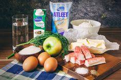 Шу с сырно-крабовой начинкой и яблоком - пошаговый рецепт приготовления с фото Dairy, Cheese, Recipes, Food, Eten, Recipies, Ripped Recipes, Recipe, Meals