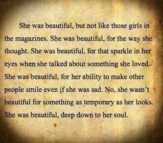 She was beautiful....