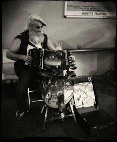 Musician in the street Olbia