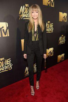 GiGi Hadid in Versace MTV Movie Awards 2016