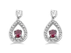 The colour of love and passion ❤️The marvelous sparkling red ruby is the July birthstone. July Birthstone, Ruby Earrings, Birthstones, Sparkle, Passion, Pendant Necklace, Colour, Gemstones, Red