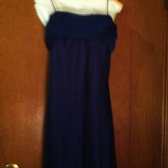 Navy Blue Long Formal Gown