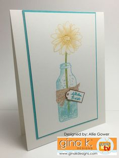 Gina K Designs May 2016 Release - for more details and cards featuring these stamps, please visit my photo album at StampTV. #fillitwithflowers #ginakdesigns