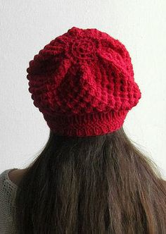 Red slouchy beanie Slouchy Hat Winter slouch